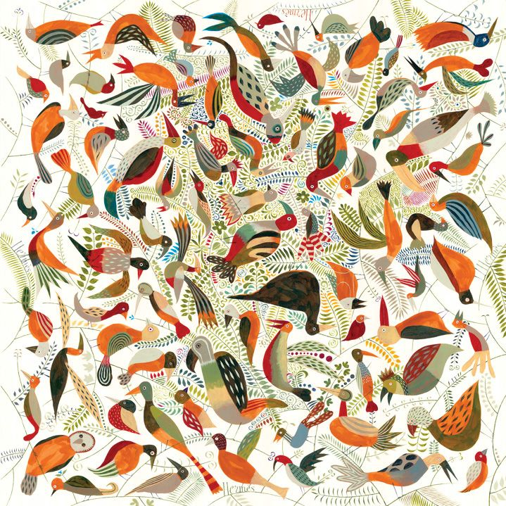 Scarf 90 Hermès | Le Bal des Oiseaux by Jeff Fisher DESIGN HISTORY : Australian-born illustrator Jeff Fisher is noted for his delicate, watercolourist's touch. Living in France for the past 20 years, his fresh, distinctive style has earned him an...