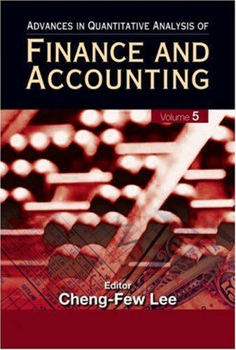 I'm selling Advances in Quantitative Analysis of Finance and Accounting, Vol 5 by Cheng-Few Leeby - $30.00 #onselz