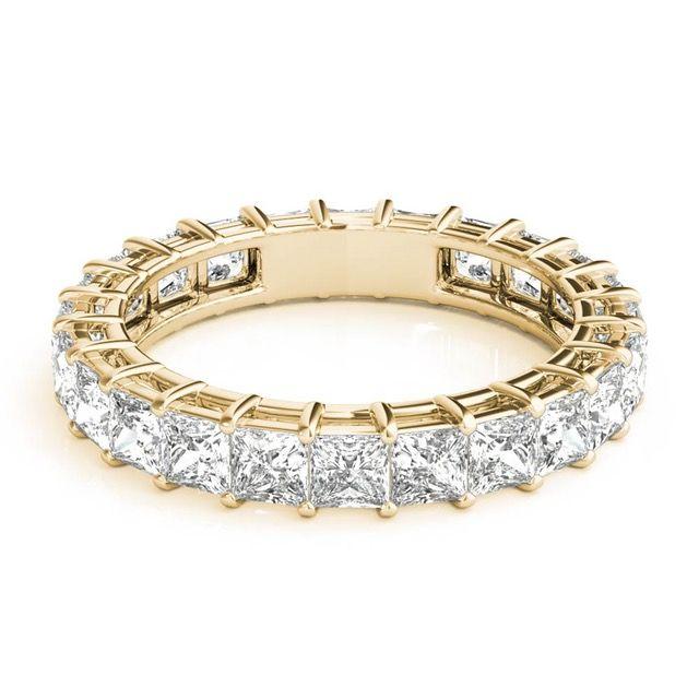 Yellow Gold Unusual Eternity Rings