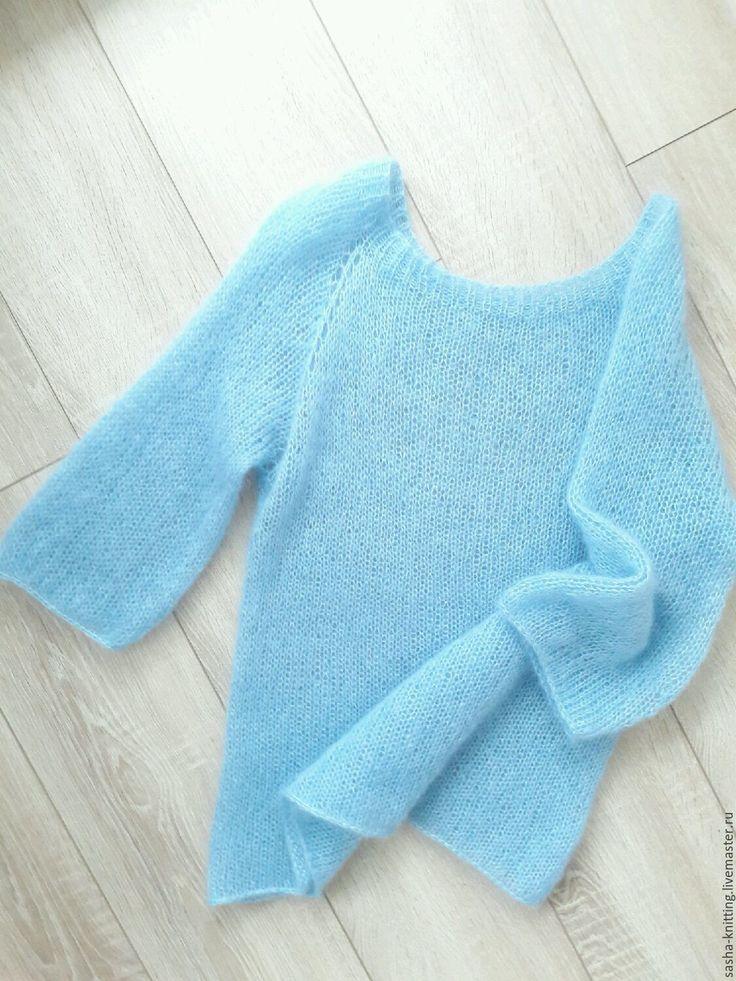 Кофты и свитера ручной работы. Пуловер из нежнейшего мохера на шелке. Sasha-knitting. Интернет-магазин Ярмарка Мастеров. Свитер женский
