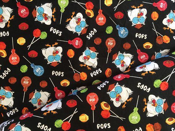 Tootsie Owl Fabric Tootsie Roll Pops Riley Blake Candy