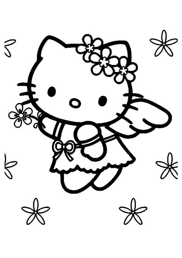 77 Best Coloring Hello Kitty Images On Pinterest