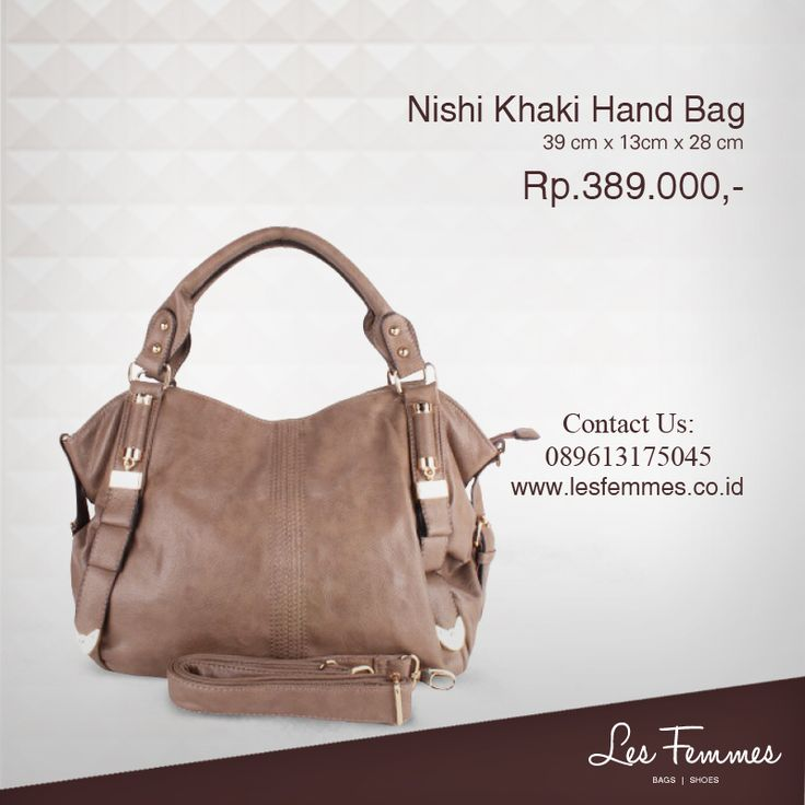 Maya Khaki Hand Bag 309,000 IDR #Fashion #Woman #bag shop now on http://www.lesfemmes.co.id/hand-bags/maya-khaki-hand-bag