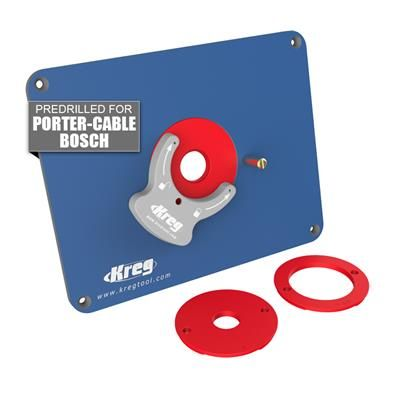 Precision Router Table Insert Plate - Predrilled for Porter-Cable & Bosch