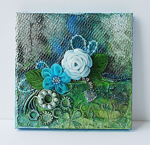 Mixed media canvas with found objects....a tutorial