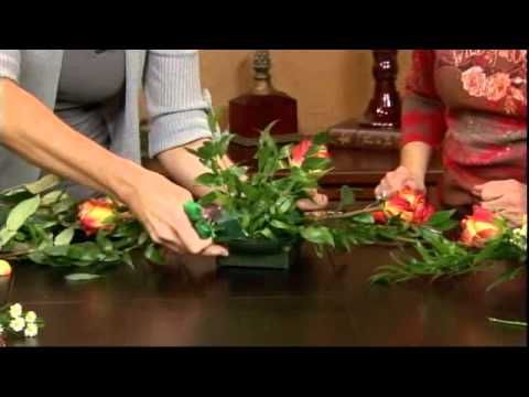 How To Create a Long Floral Centerpiece in Foam