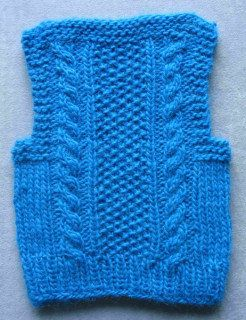 Free Knitting Pattern - Toddler & Children's Clothes: Cozy In Cables Toddler Vest