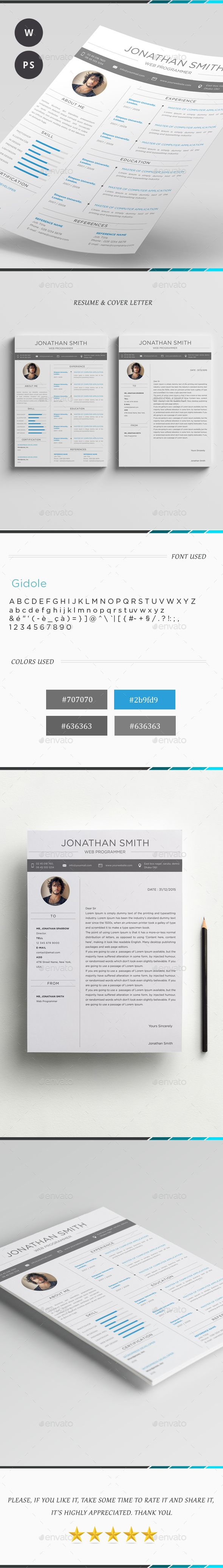 Word Resume Template PSD, DOCX, DOC