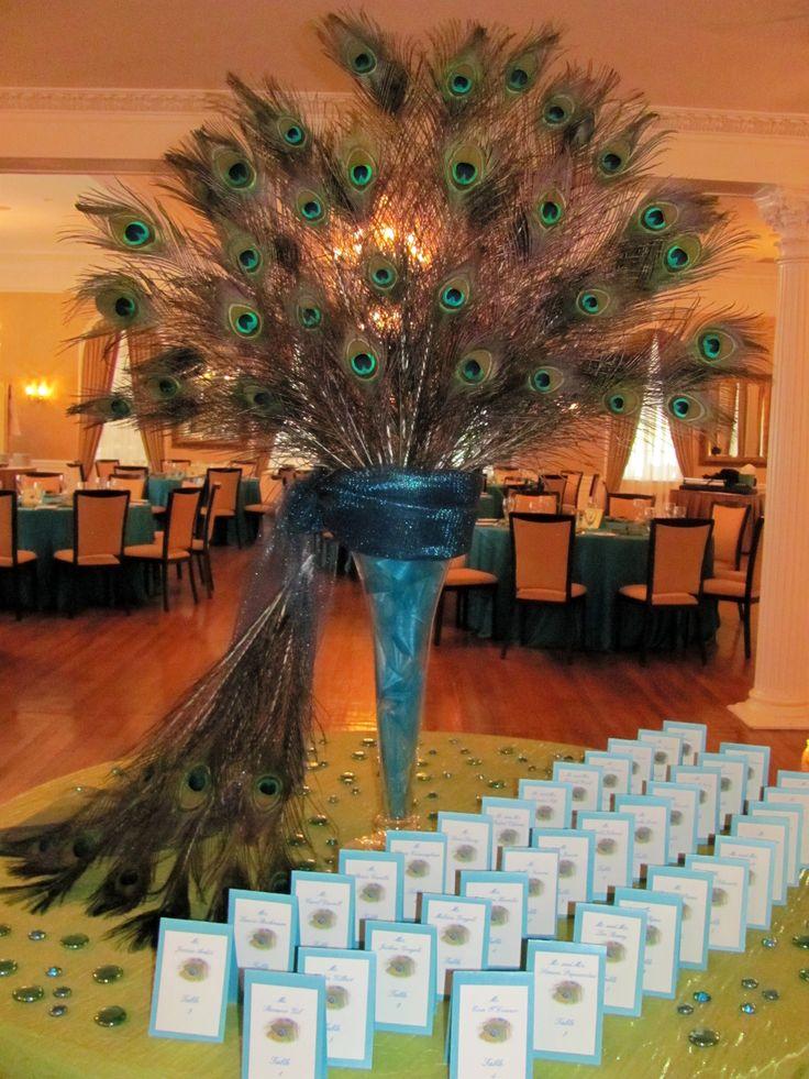 Peacock Place Card Arrangement 18 best Floral