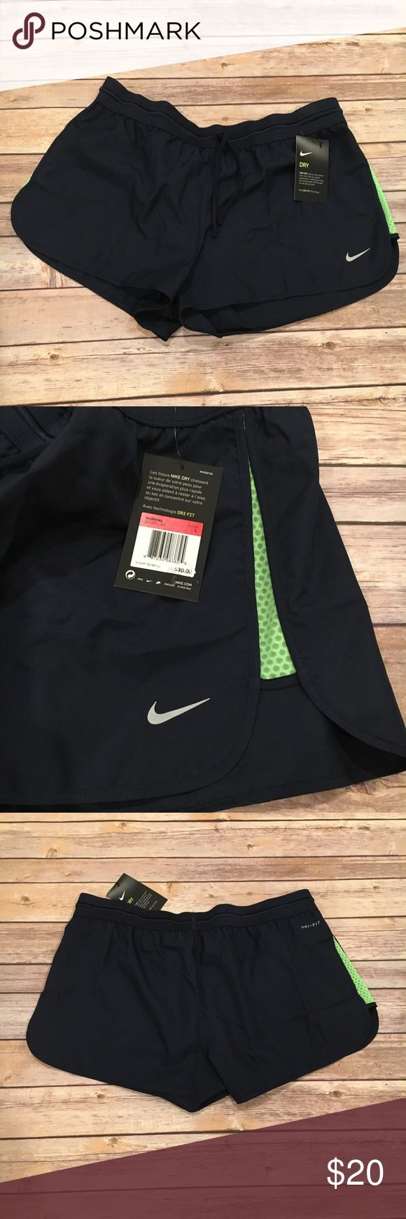 Nike Dri Fit Shorts NWT Large Nike Dri Fit Shorts NWT Large. Navy with Green sides. Offers welcome Nike Shorts