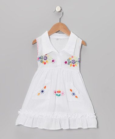 Take a look at this White Mia Dress - Infant, Toddler & Girls by Little Cotton Dress on #zulily today!