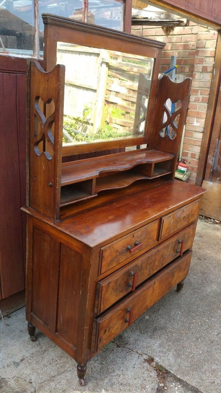 stunning vintage dressing table with large mirror in home furniture u0026 diy furniture