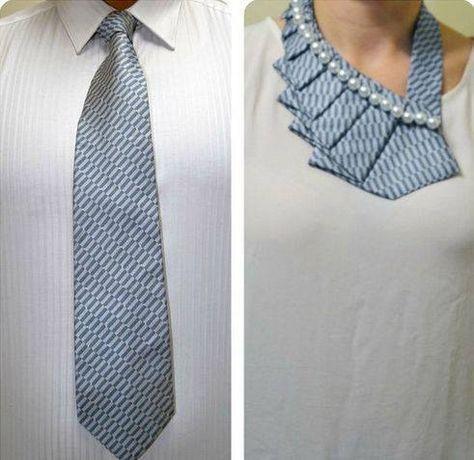 Idea creativa. Cómo reutilizar las corbatas viejas.