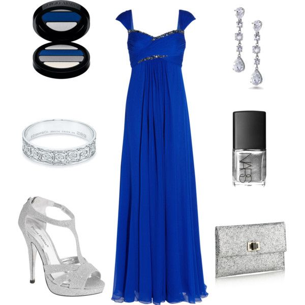 Cobalt blue maxi dress polyvore create