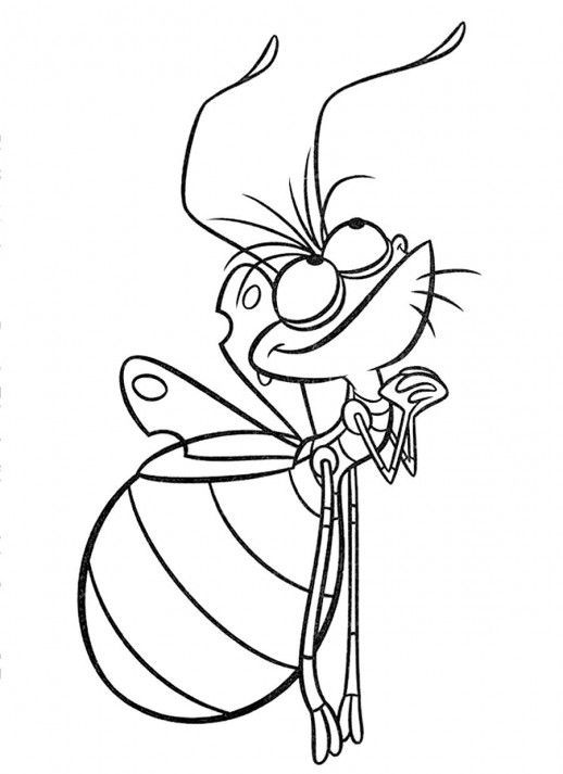 Ray The Firefly Coloring Page Use Glow In Dark Paint For His Body