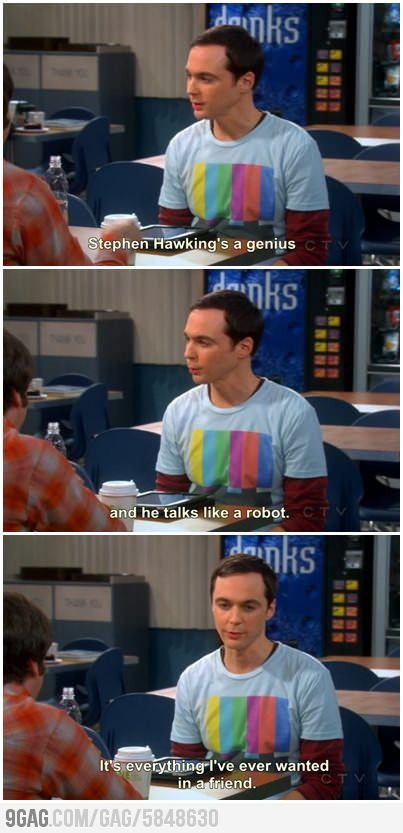 Sheldons friend  I LOVE THE BIG BANG THEORY!