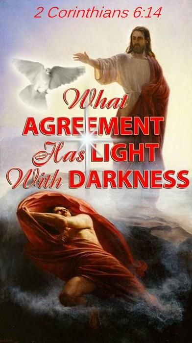 2 Corinthians 6:14 . . .what sharing does light have with darkness? Most conflict is as simple as this - making it hard to resolve.