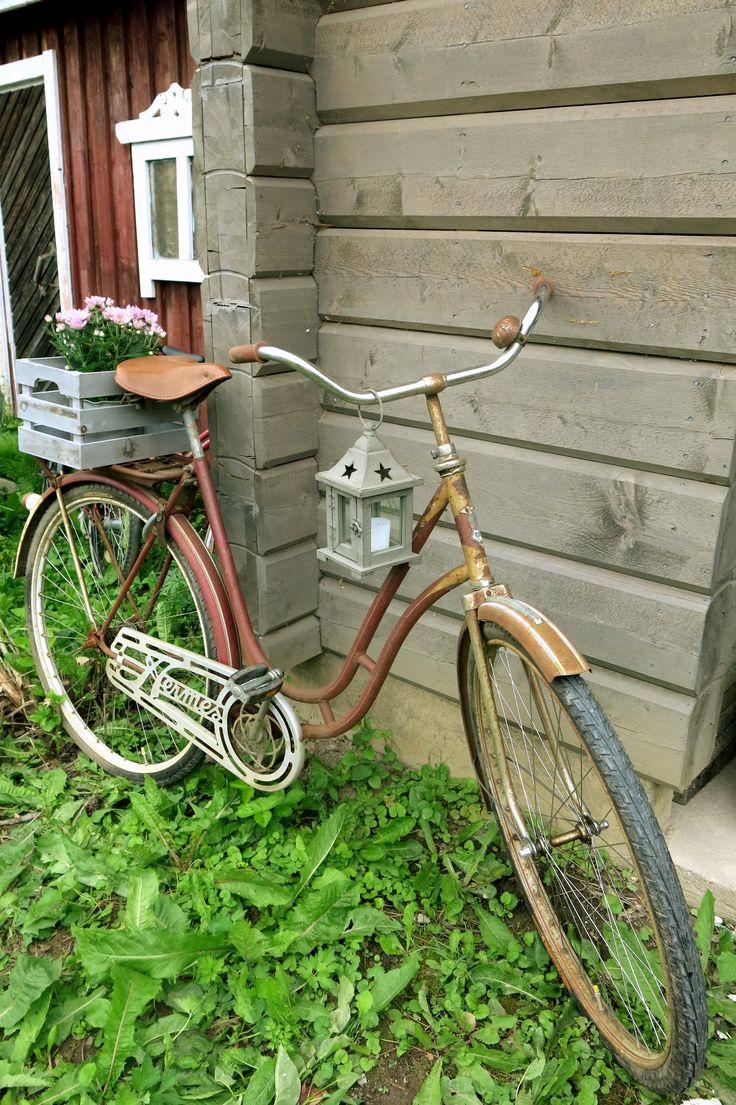 Vanha polkupyörä uusiokäytössä