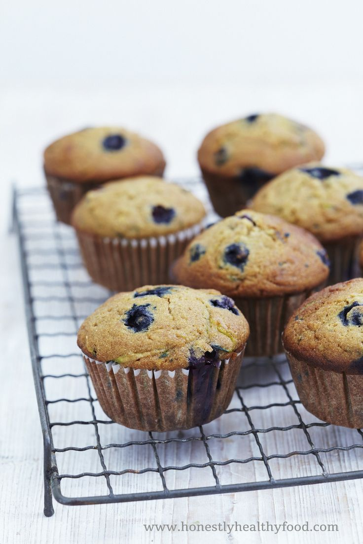 Honestly Healthy Recipe | Blueberry and Courgette Muffins. Alkaline and delicious http://honestlyhealthyfood.com/2014/06/11/blueberry-courgette-muffins/