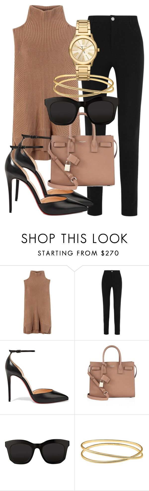 """""""Untitled #2025"""" by mariandradde ❤ liked on Polyvore featuring Vince, Givenchy, Christian Louboutin, Yves Saint Laurent, STELLA McCARTNEY, Maison Margiela and Michael Kors"""