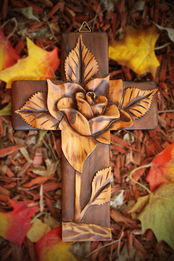 All crosses are hand carved on 100% cured Cedar wood. Each peace is unique since they all have individual details.  Crafted by Honduran artesands, they