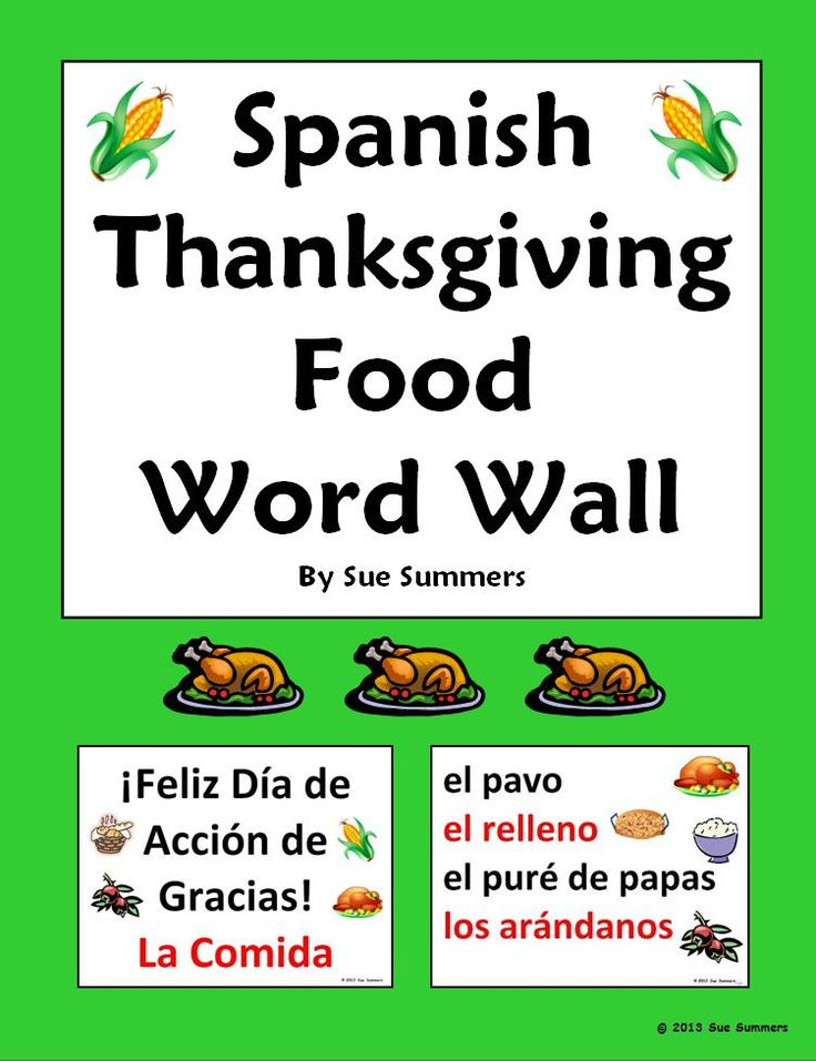 38 best images about thanksgiving on pinterest spanish for Cuisine words