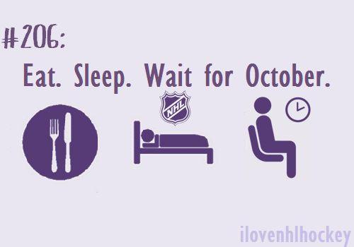 Eat. Sleep. Wait for October. Basically.