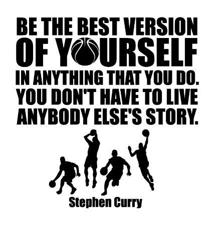 Stephen Curry Quote Wall Decals/Basketball Wall Decals/Sports NBA Basketball Players Inspirational Wall Art Decal Quotes: Premium Quality Quote Decal. A Wall Decal Stickers Made In USA - BLACK