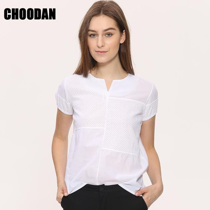 3D Embroidery Blouse Shirt Women Plus Size Patchwork Tops And Blosues Summer 2017 New Korean Short Sleeve Plaid Shirt Female
