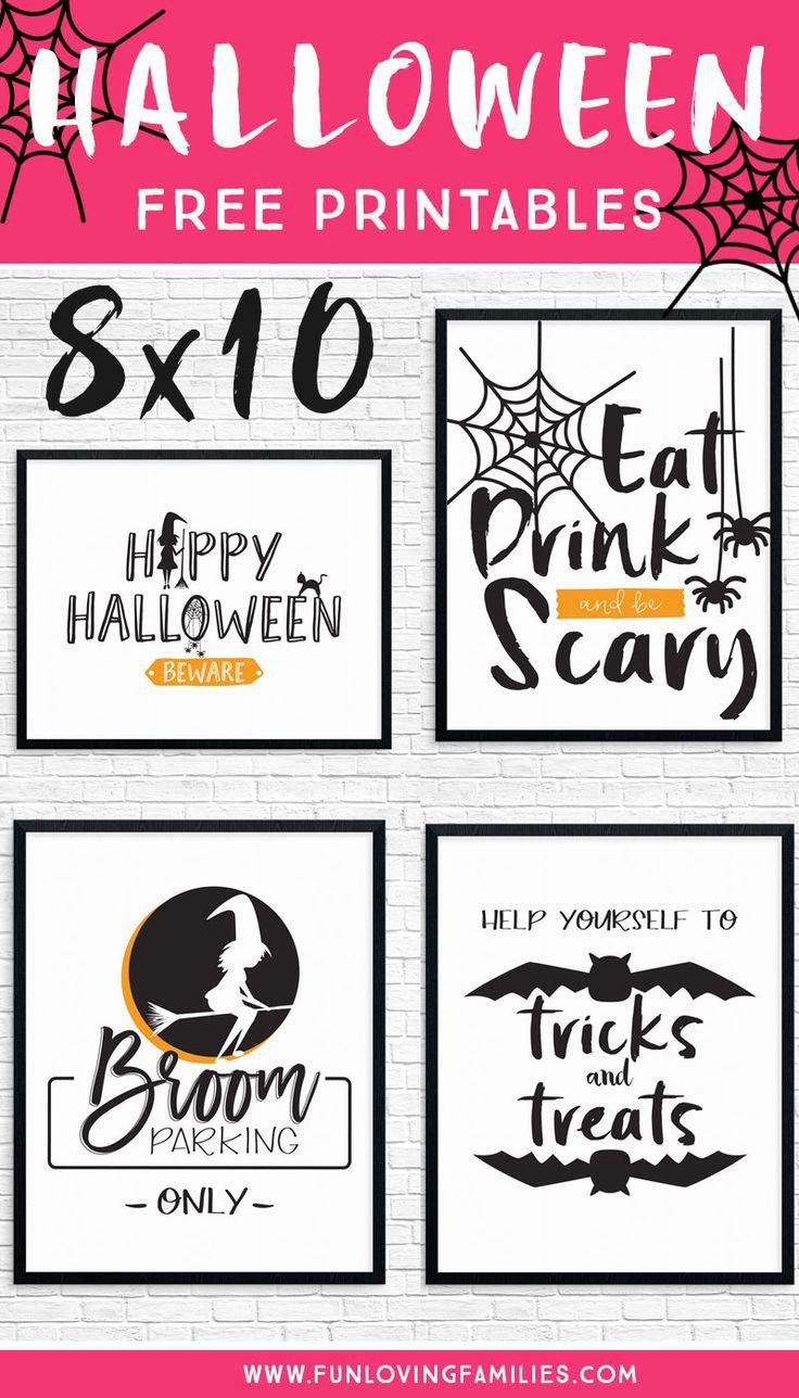 Free Halloween Party Printables Printable Halloween Decorations