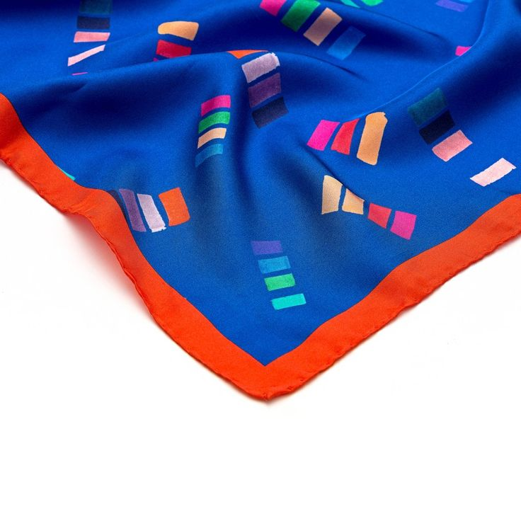 Casa multicolour silk square scarf, By Joyce and Nim. Made in Milan, Italy  120€