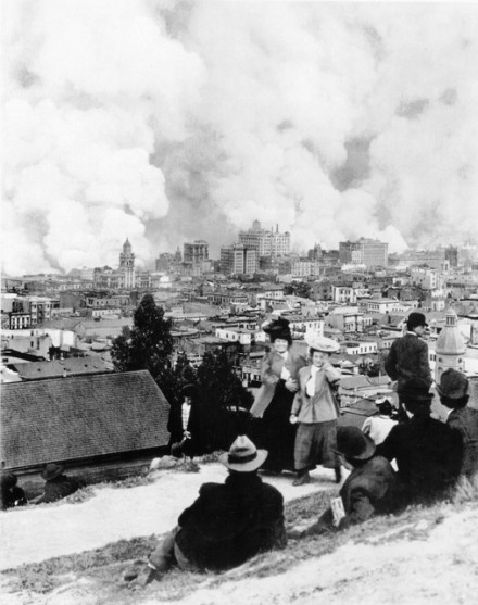1906 Earthquake in San Francisco.