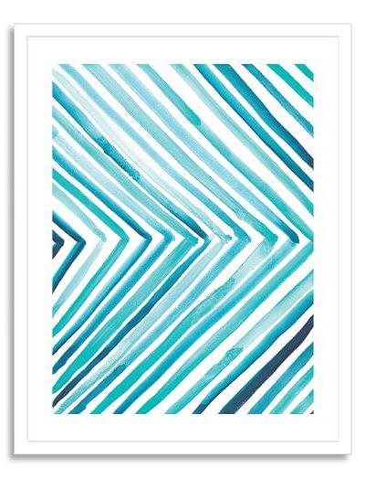 Aquatic Line Watercolor Print