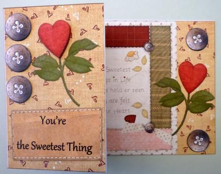 You're the sweetest thing on Craftsuprint designed by Jolanta Januszewska - made by Michelle  Chivers - Printed onto matte coated paper, then mounted onto white card stock. I siliconed the layers. A very quick and easy card to make. - Now available for download!