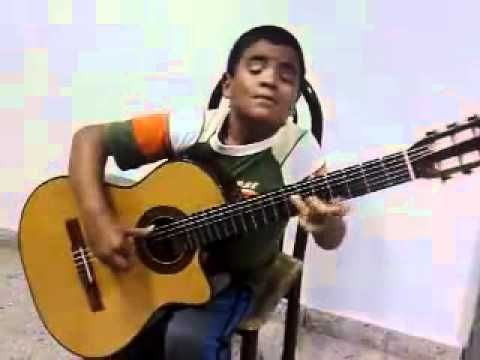 """Ready to weep? Little boy's rendition of Titanic's """"My Heart Will Go On.""""    Classical Guitar by Julio Silpitucla"""
