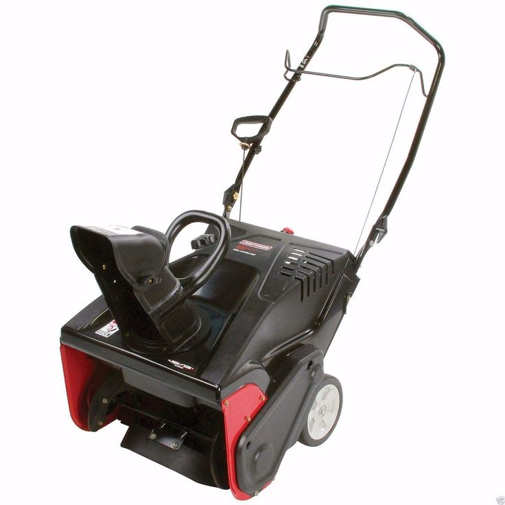 21 Inch Snow Blower Craftsman 123cc 4 Cycle Engine Paths Snow Removal Equipment #Craftsman