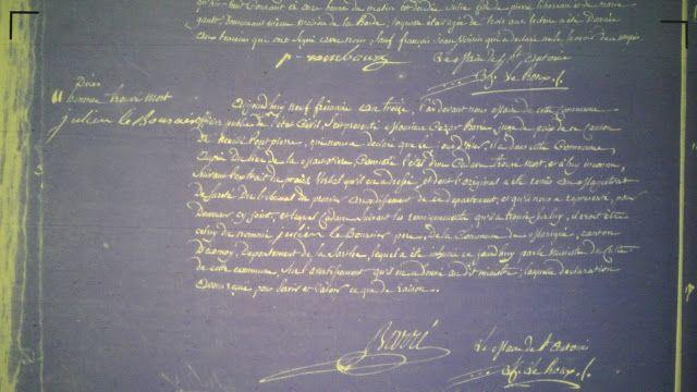 Acte de décès de Julien Le Bourcier (an XIII)