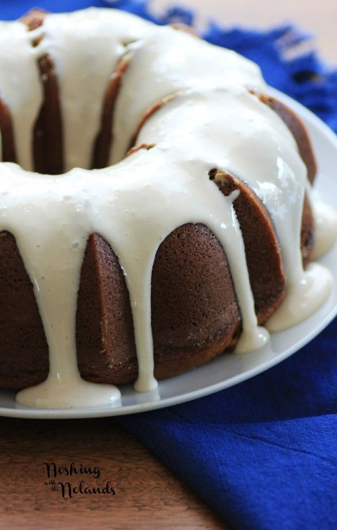 Cinnamon Roll Bundt Cake by Noshing With The Nolands