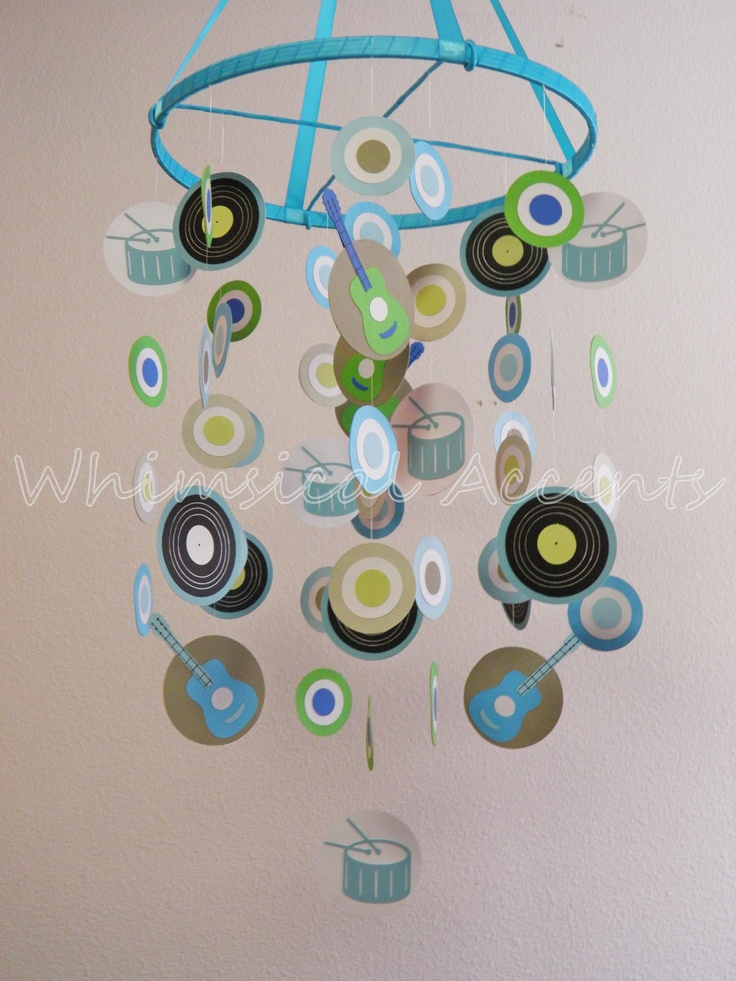 Rock Star Baby Paper Mobile