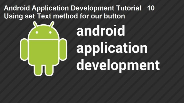 Android Application Development Tutorial 10 Using set Text method for our button Android Application Development Tutorial 10 Using setText method for our button
