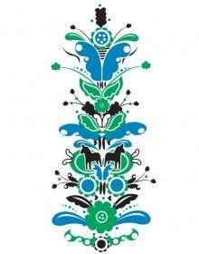 Kurbits Green Blue