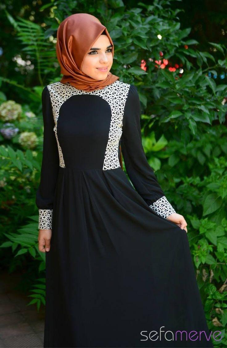 Tesettür Elbise Siyah #sefamerve #tesettur #tesetturgiyim #elbise#yenisezon #2014 #Hijabdress #Hijab #newseason #tesettürelbise