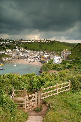 Port Isaac in North Cornwall, England, On 'Cow Pat Hill' as it will now forever be known! :-)