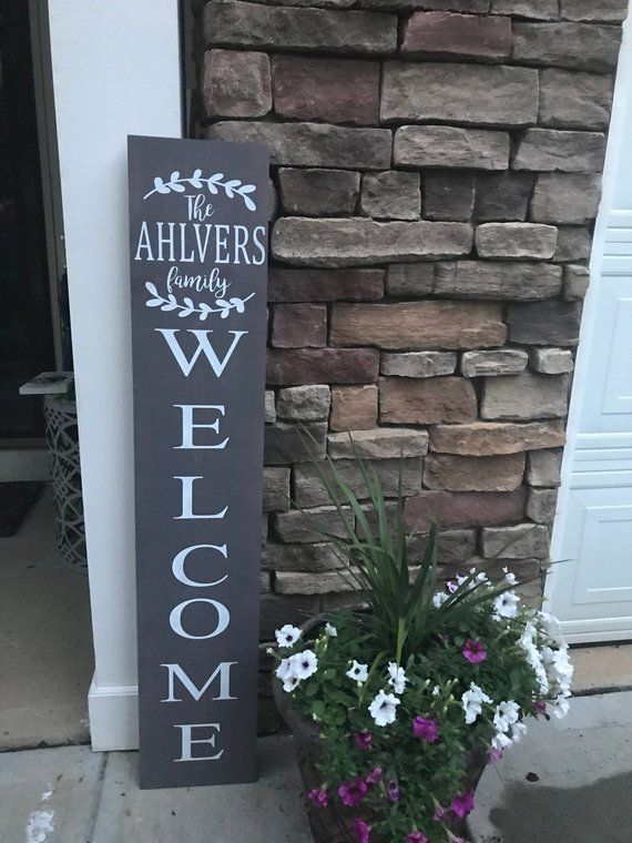 Welcome Sign Personalized Welcome Sign Front Porch Sign Etsy Porch Signs Front Porch Signs Welcome Signs Front Door