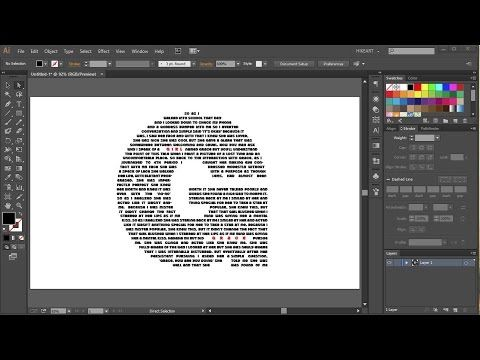 How to Fill Letter Shapes with Link Threaded Text in Adobe Illustrator - YouTube