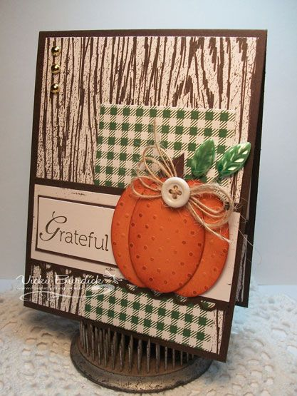 Happy Halloween Peeps!!  Today I am sharing not a Halloween card but a Thanksgiving card. You all know I love to make pumpkins with my punc...