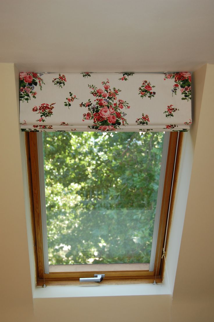 Roman blind at velux window
