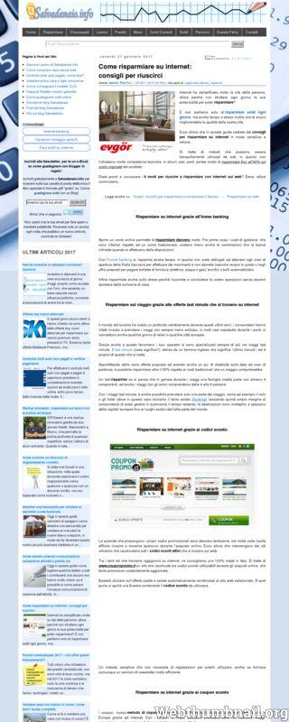 Soldi, Come risparmiare soldi con internet facilmente su www.salvadanaio.info