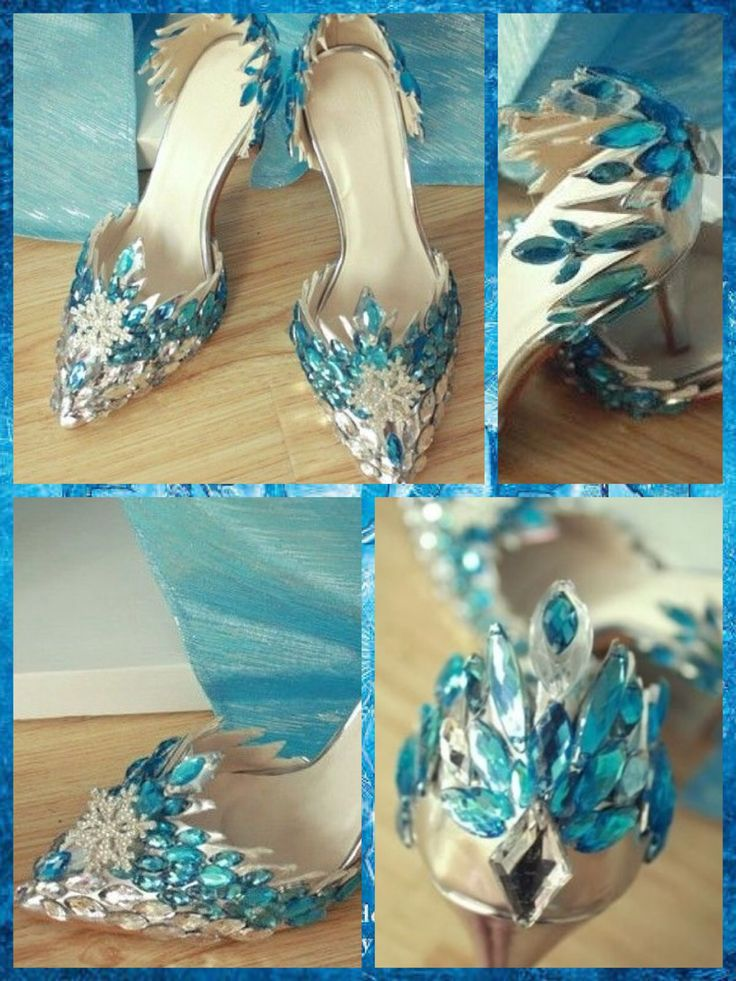 Disney Frozen inspired Elsa shoes. Sold on e-bay by cellbomeng. EPacket delivery from China, Beijing. 69.99