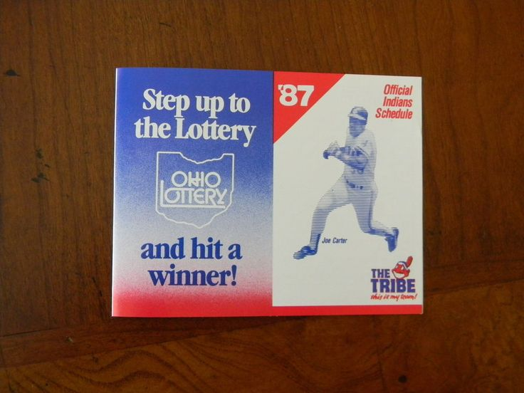1987 MLB CLEVELAND INDIANS BASEBALL SCHEDULE - OHIO LOTTERY  J0121
